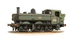 Bachmann 31-638 64xx Class 0-6-0PT Pannier Tank 6424 BR Lined Green Late Crest (Weathered)