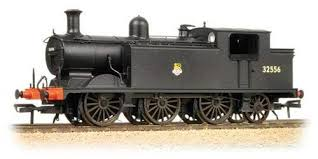 Bachmann 35-077 E4class 0-6-2 32556 BR Black Lined Early crest